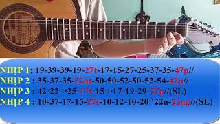 [Tự học ghita phím lõm - Bài 39: Lưu thuỷ trường câu 7 và câu 8