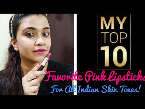 MY TOP 10 PINK LIPSTICKS for All Indian Skin tones Fair/Medium/Dusky #PRITEMBER DAY 1