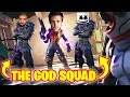 NINJA PLAYS SQUADS WITH DRAKE & MARSHMELLO!! THE GOD SQUAD OF FORTNITE?! (Fortnite Battle Royale)