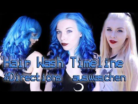 DIRECTIONS AUSWASCHEN - Blau Ombre zu Weiß