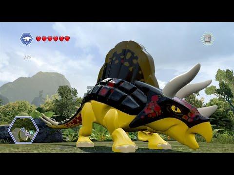 LEGO Jurassic World - Customize   Create Dinosaur Ankylosaurus   Free Roam Gameplay [HD]