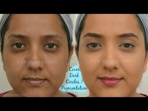 How to Cover Dark circles. Acne and Pigmentation   For Indian/tan/olive/Brown skin tone   Perkymegs