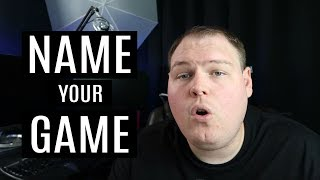 How to name your indie game