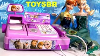Toysbr Frozen Cash Register Toy  Caixa Registradora Das Princesas Anna Elsa Disney Frozen Fever