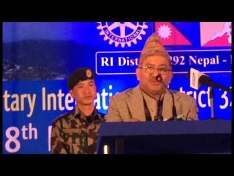 Rotary International Conference 3292 || Nepal-Bhutan || Hon'ble Chief Justice Kalyan Shrestha 2016.