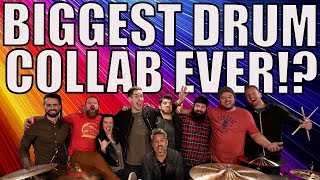 WORLD'S BIGGEST DRUM COLLAB!? - 2M SUBS LIVE DRUM COVER!