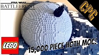 MASSIVE Lego Battle of Hoth MOC! With UCS AT-AT and Ion Cannon