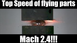 Exploding Ball Bearing with Hydraulic Press at 320 000FPS!!