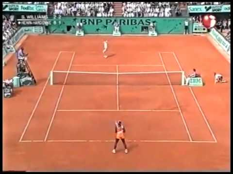 [HL] Justine Henin vs. Serena Williams 2003 Roland Garros [SF] [1 2].flv