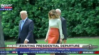 WATCH: President Trump, Melania and Ivanka Trump Leave The White House In Marine One (FNN)