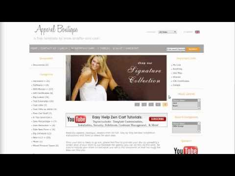 0 Easy Help Zen Cart Virtual Tour: Apparel Boutique Free Template
