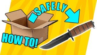 How to SAFELY remove contents from a cardboard box