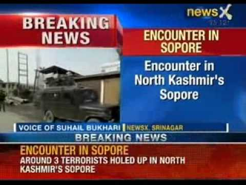 Breaking News: Watch terrorist encounter in North Kashmir's Sopore region - NewsX