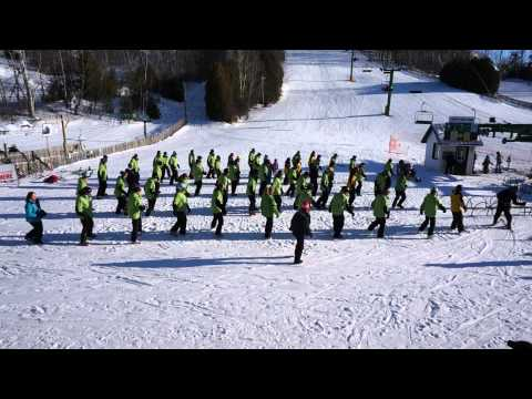 HVR Snow School World Record Line Dance Attempt (in ski or snowboard boots).