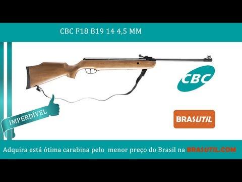 Carabina CBC F18 B19 14 4.5MM - Carabina CBC de Qualidade. Brasutil