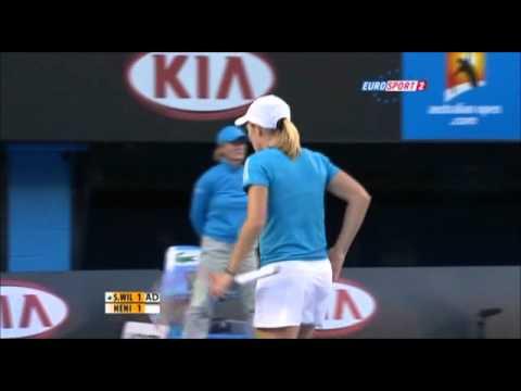 セレナ(セリーナ) ウィリアムズ v Justine エナン, 全豪オープン 2010 決勝戦(ファイナル)  - Part 3