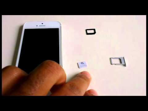 Cut MICRO SIM Card to NANO SIM Card for iPhone 5. SCISSORS ONLY - Make Nano Sim Card yourself