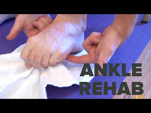 Ankle Rehabilitation Exercise Series For Those Recovering From Ankle Injury