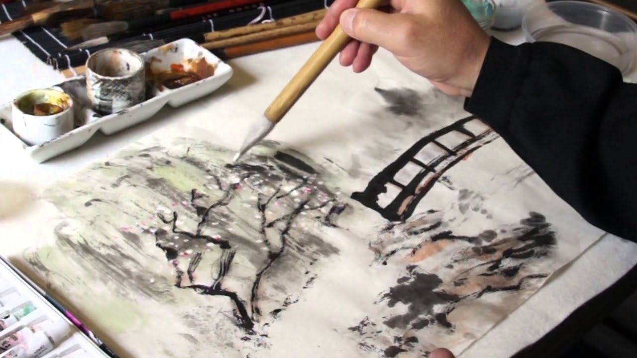 Chinese Brush Painting Lesson 24 Trailer Daylily Rose