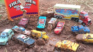 Car 3 Lightning McQueen new thunder hollow racers pushover fishtail APB Tomica miss fritter Drdamage