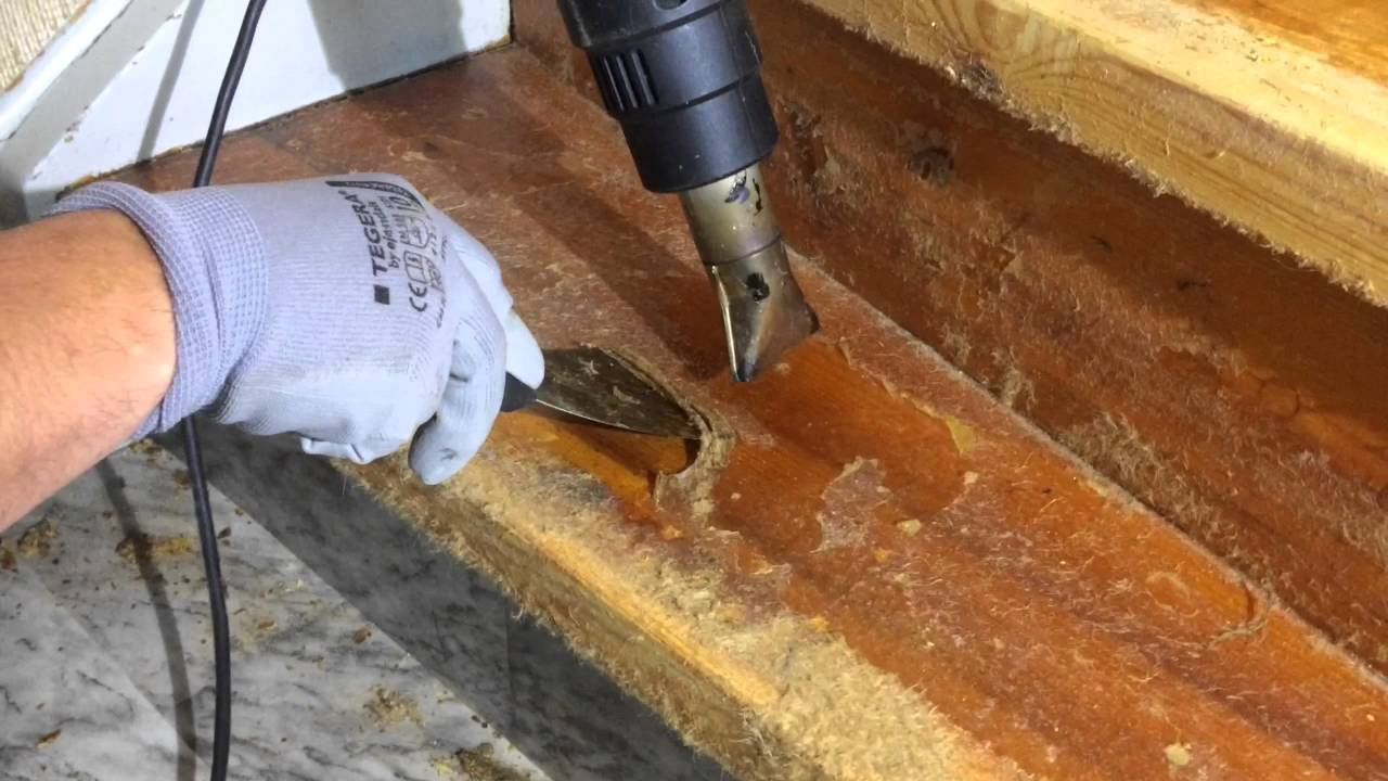 Removing glue from floor tiles