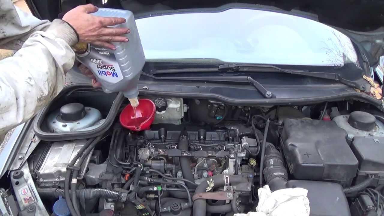 Cambio Del Filtro De Aceite Amp Vaciado De Aceite Del Motor