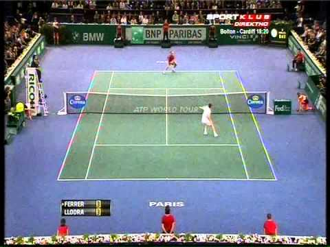 David Ferrer vs Michael Llodra - ATP Masters Paris 2012. Highlights 1 (extra points) (bojan svitac)