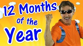 12 Months of the Year | Exercise Song for Kids | Learn the Months | Jack Hartmann