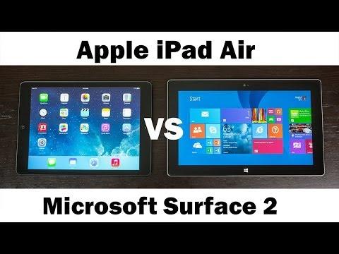 Apple iPad Air Vs. MIcrosoft Surface 2 RT (Full In-Depth Comparision)