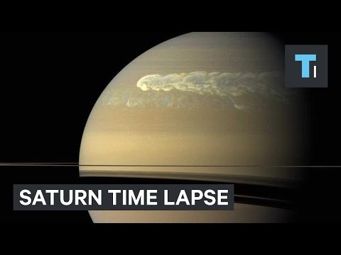 NASA released a stunning time-lapse of Saturn