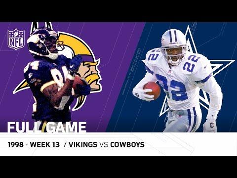 Randy Moss Vikings Torch Cowboys Thanksgiving 1998 Nfl Full Game