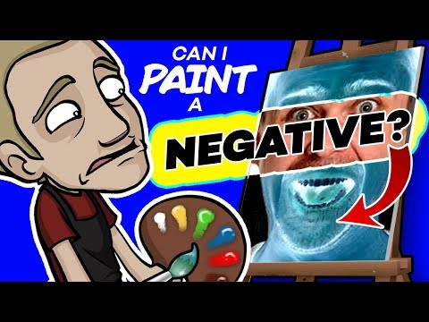 The INVERTED COLOR Challenge! - Can I PAINT a NEGATIVE?