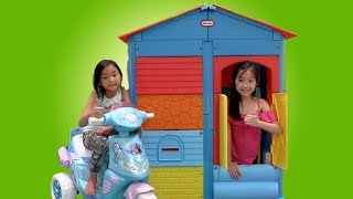 Chloe Pretend Play with COLORFUL Kids PlayHouse Toy Fun TV