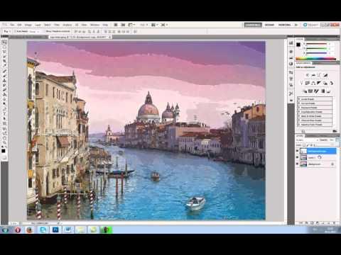 Как сделать акварельный рисунок из фото в фотошопе