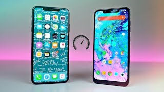 iPhone XS MAX vs POCOPHONE F1 - Speed Test! (Shocking)
