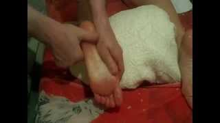 foot & toes relax oil massage basic strokes in 2 min