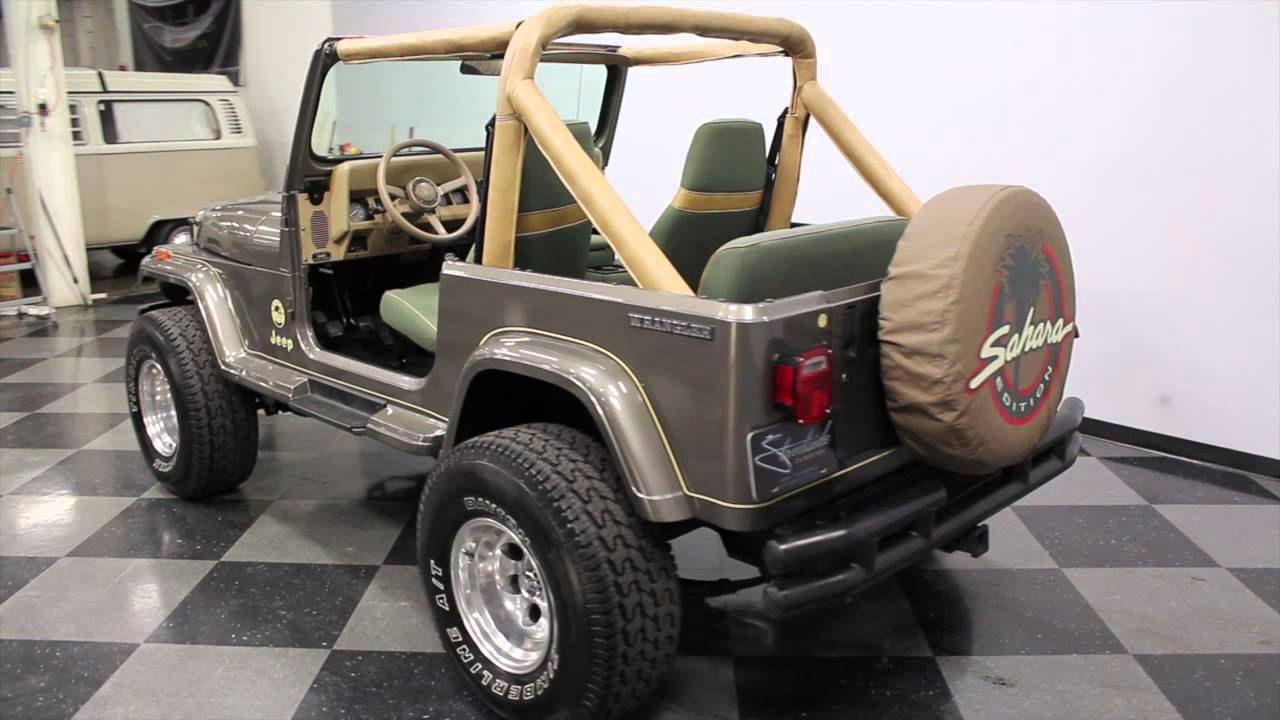 2474 Cha 1989 Jeep Wrangler Sahara Youtube