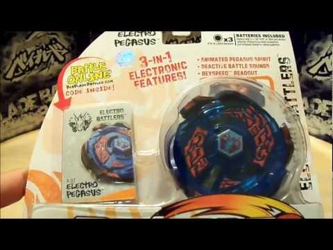 Beyblade Metal Masters ELECTRO PEGASUS Unboxing and Review