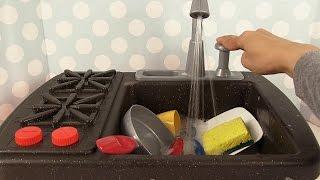 Jouets de Cuisine Vaisselle Evier Splish Splash Sink and Stove