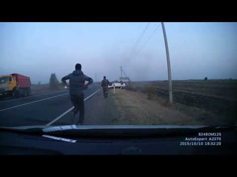 Жесткое ДТП с погибшими на трассе Краснодарский край 10.10.2015