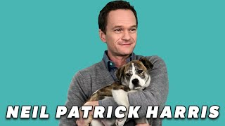 Neil Patrick Harris Plays With Puppies (While Answering Fan Questions)