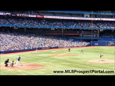 Mets RHP Dillon Gee vs  Blue Jays OF Jose Bautista   home run @ Rogers Centre