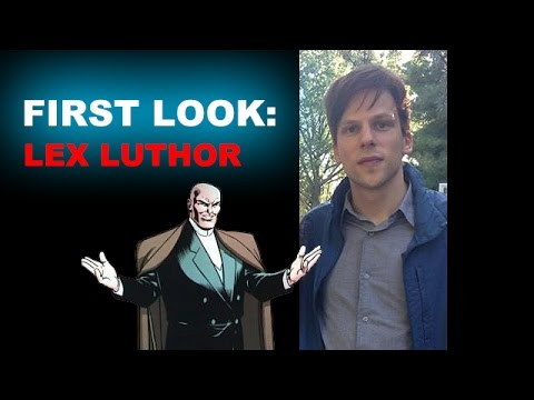 Jesse Eisenberg as Lex Luthor, first look?! RED HAIR, NOT BALD?! - Beyond The Trailer