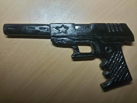 Как сделать пистолет из дерева  часть 1 Wood carving Wooden Gun