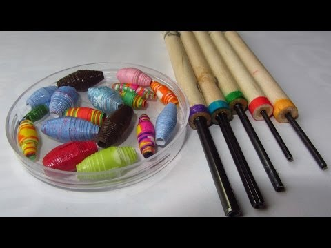 How to Make Paper Beads with Paper Bead Rollers Craft Tutorial