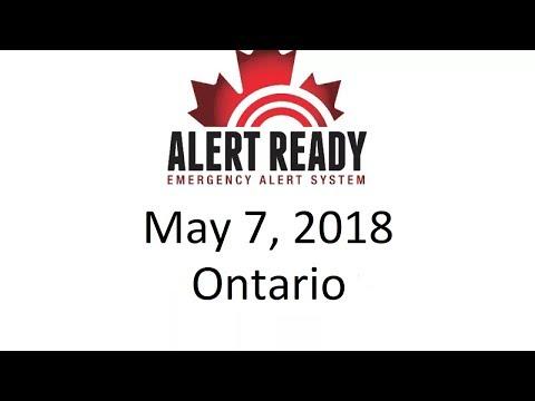 Alert Ready Test - May 7, 2018