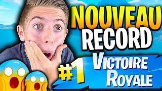 MON NOUVEAU RECORD DE KILL INNATENDU SUR FORTNITE BATTLE ROYALE !!!