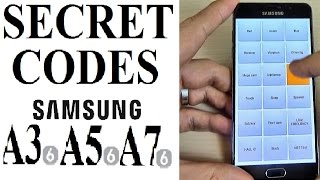 SECRET CODES for Samsung Galaxy A3, A5, A7 (2016)