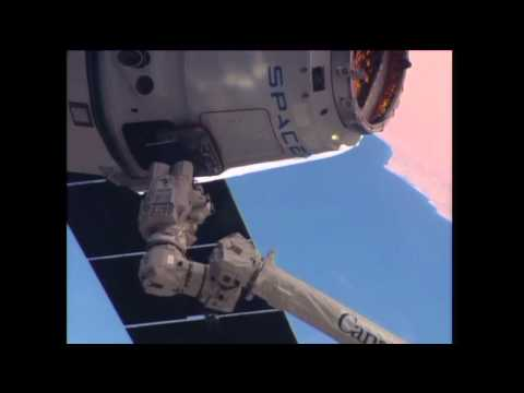 U.S. SpaceX Dragon Ship Arrives at the International Space Station with Important cargo