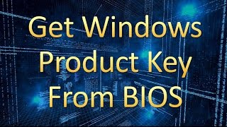 How To Find Windows Product Key  - Computer Tutor #007